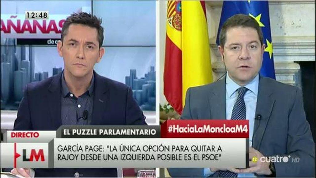 """García-Page: """"Hay opciones serias de que podamos ir a unas segundas elecciones"""""""