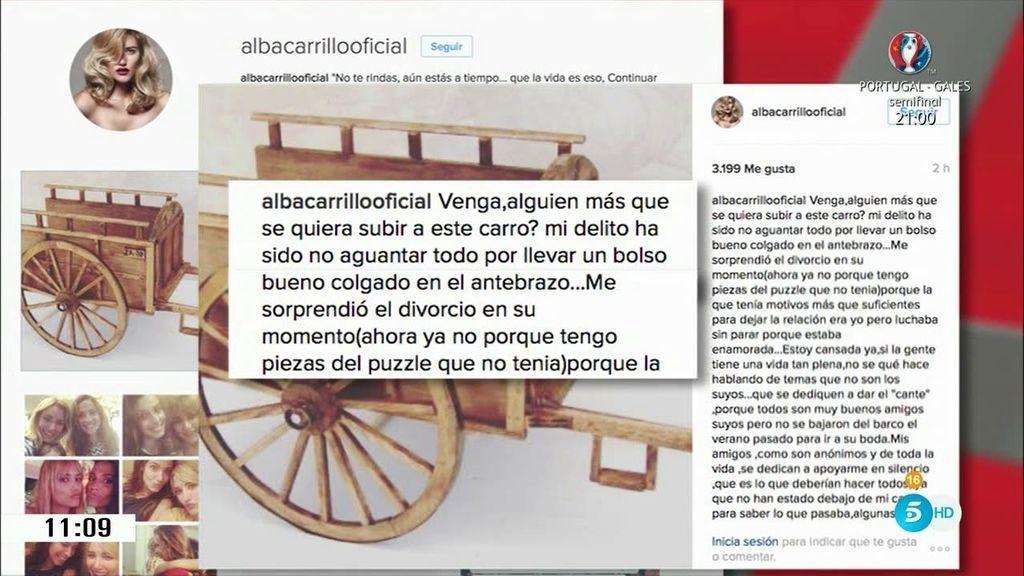 """Alba Carrillo: """"Mi delito ha sido no aguantar todo por llevar un bolso bueno"""""""