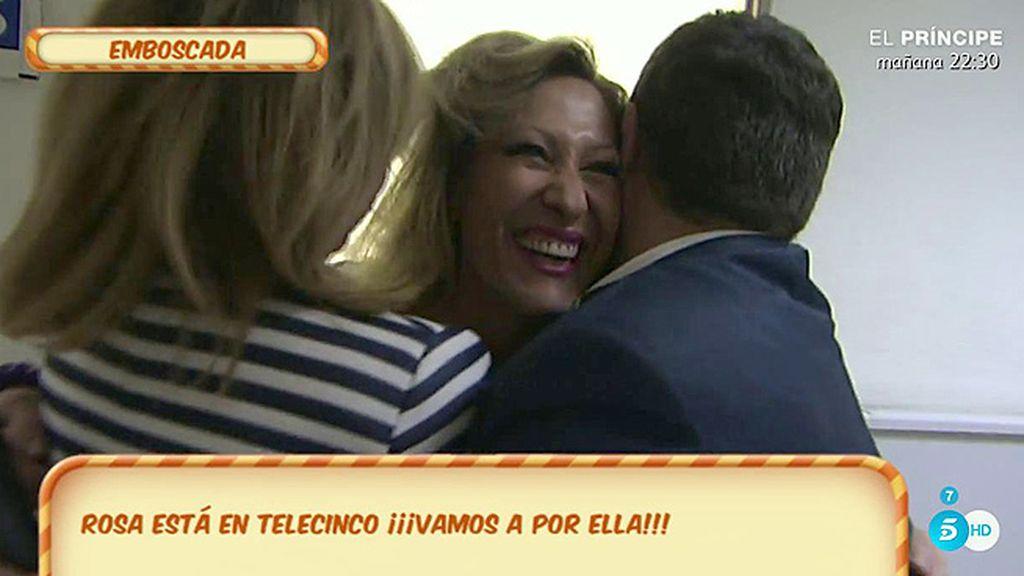 Así ha sido el reencuentro de Rosa Benito con Jorge Javier Vázquez y Mila Ximénez