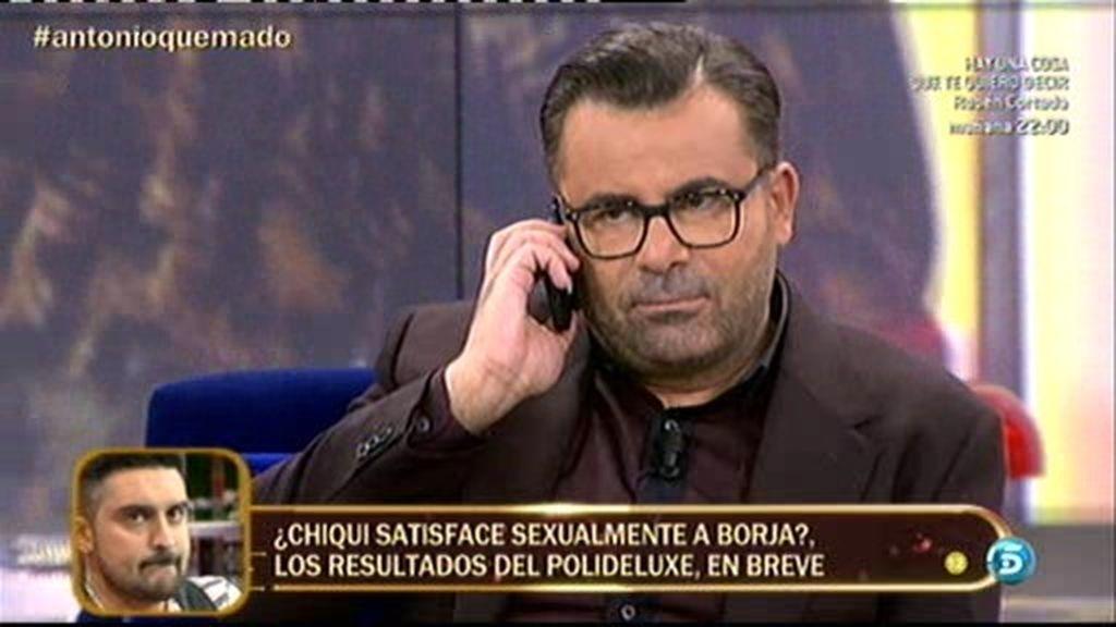 María del Monte llama en directo al teléfono personal de Jorge Javier