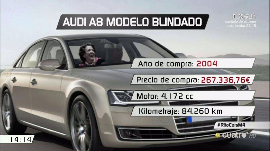El Audi blindado de 260.000 euros de Rita Barberá sale a subasta por 14.000