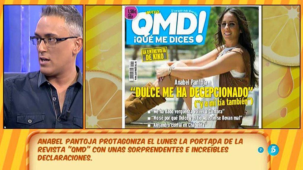 """Anabel Pantoja, en la portada de 'QMD!': """"Dulce me ha decepcionado"""""""