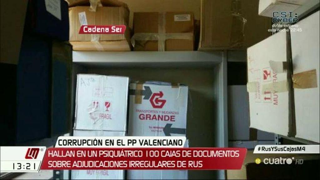 Hallan en un psiquiátrico cien cajas con documentos sobre el presunto fraude de los campos de césped en Valencia