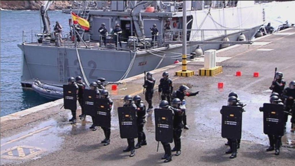 Ejercicios de entrenamientos de las Fuerzas de Protección de la Infantería de Marina