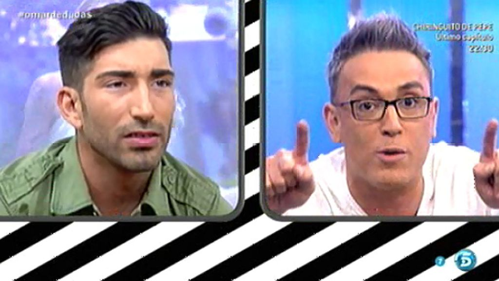 """Aitor, a Kiko Hernández: """"Lo único que haces es meterte con el pelo de Omar"""""""