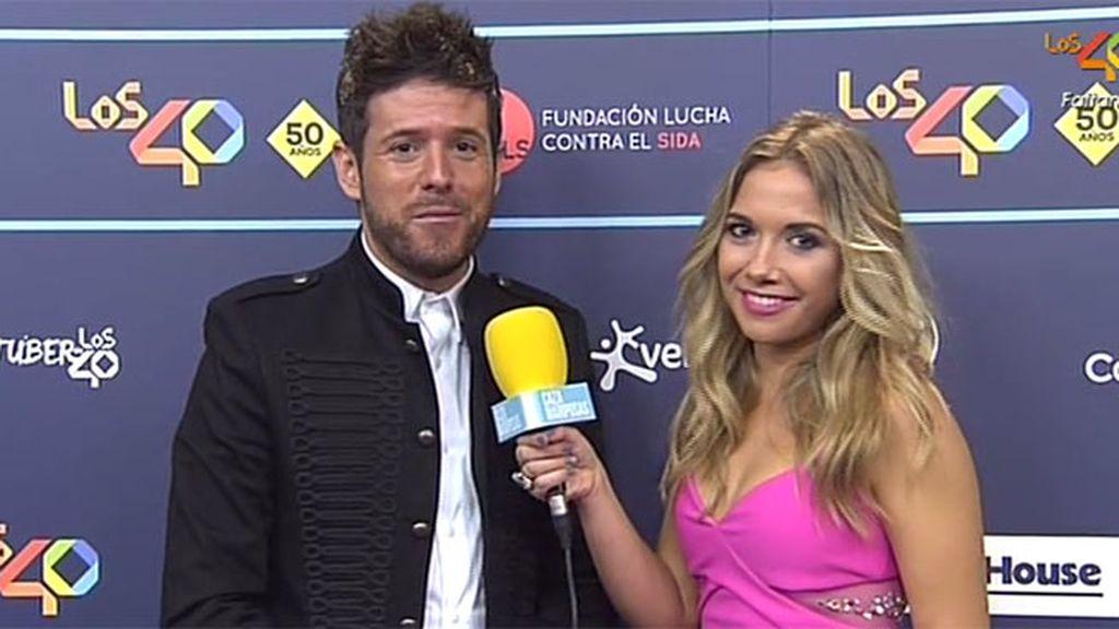 """Pablo López: """"Con 'cara de idiota', como la canción, por la felicidad de estar aquí"""""""