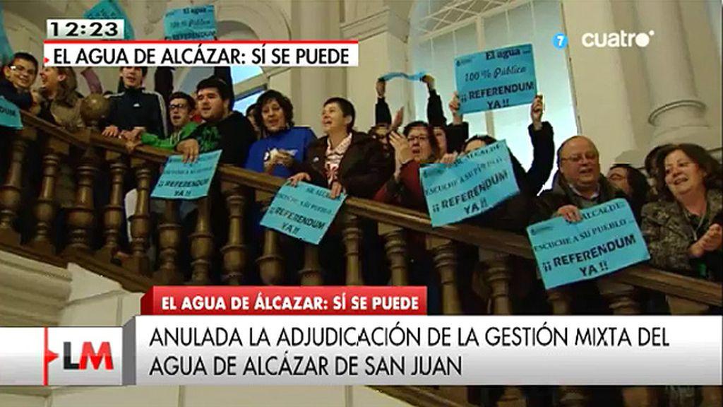 Los vecinos de Alcázar de San Juan (Ciudad Real) paralizan la privatización del agua