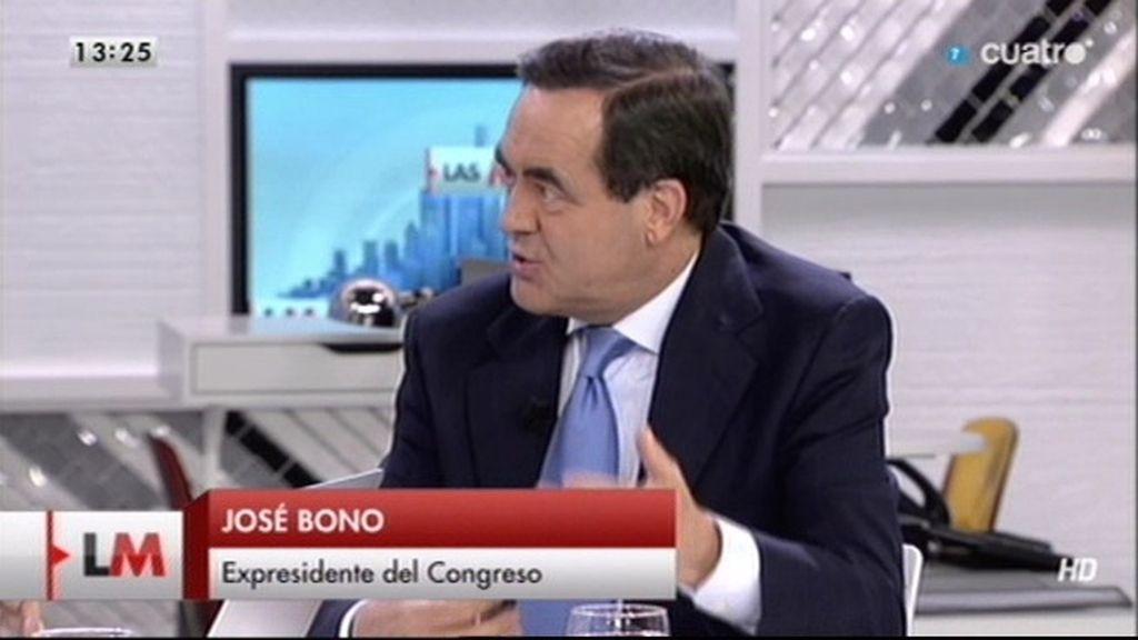 """José Bono: """"El gobierno del PSOE no fue cómplice de la estafa de Pujol"""""""