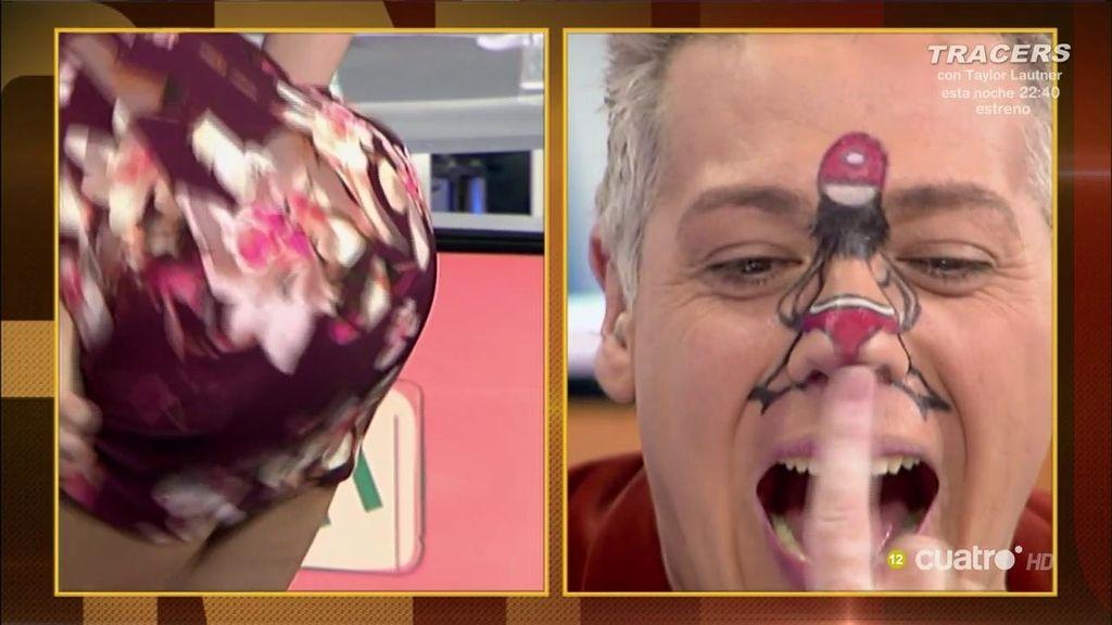 Adriana se atreve con el 'twerking' y se enfrenta... ¡a la nariz de Charly el Mago!