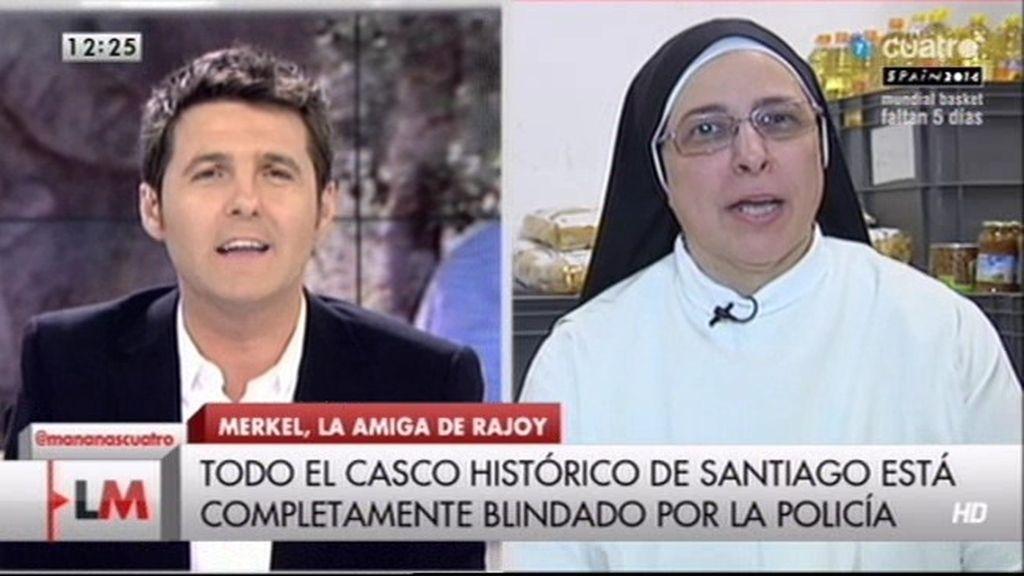 """Sor Lucía: """"La gente se manifiesta porque en España estamos al borde del abismo"""""""