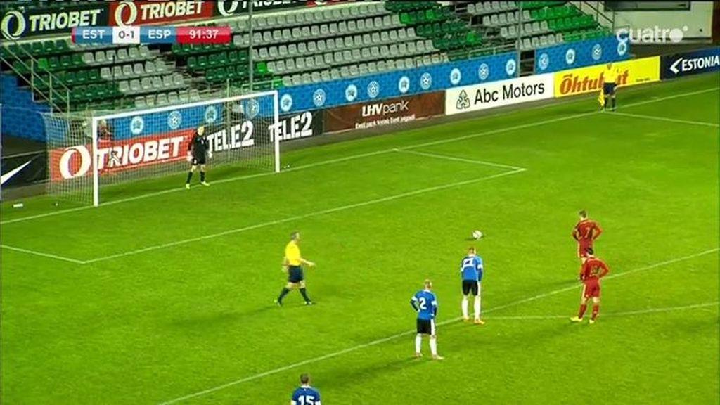 Deulofeu no perdona el penalti sobre Munir y sentencia a Estonia desde los 11 metros