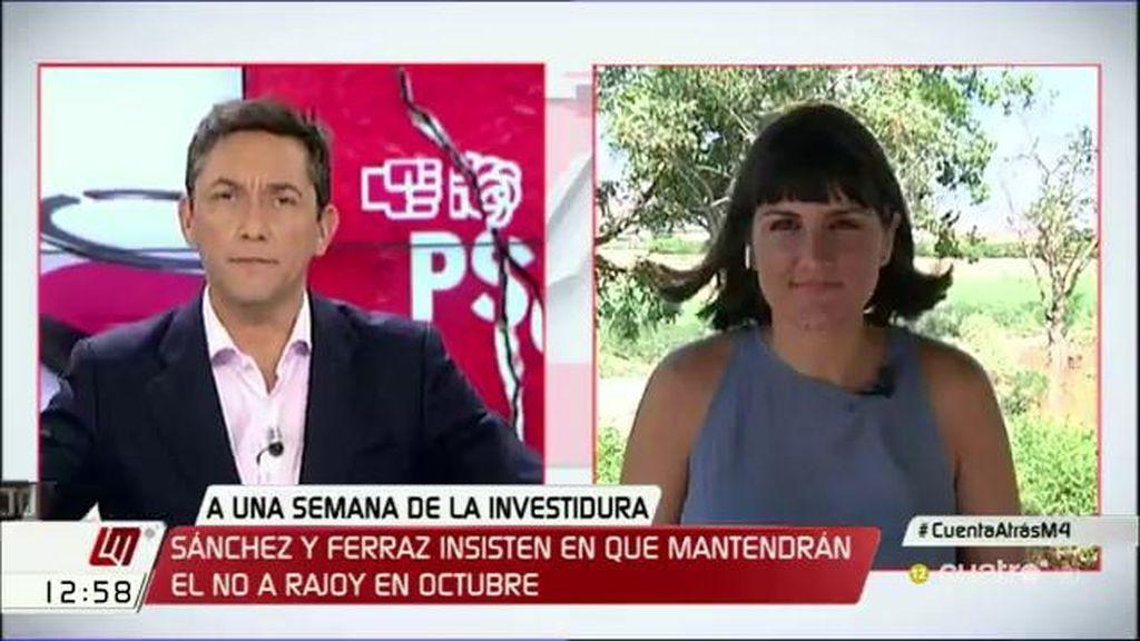 """María González de la Cruz: """"Es evidente que hay presiones al PSOE para que se abstenga"""""""
