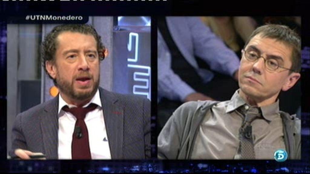 "Monedero, a F. Quevedo: ""La maledicencia contra Podemos se quita leyendo"""