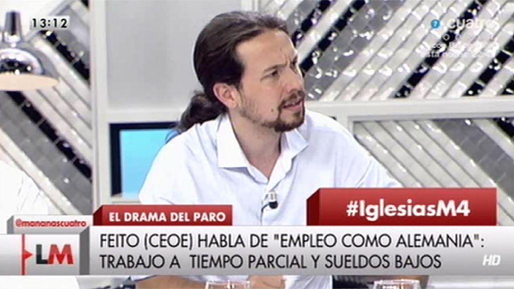 """P. Iglesias: """"Los que dicen que es imposible tienen miedo a que se les acabe el chollo"""""""