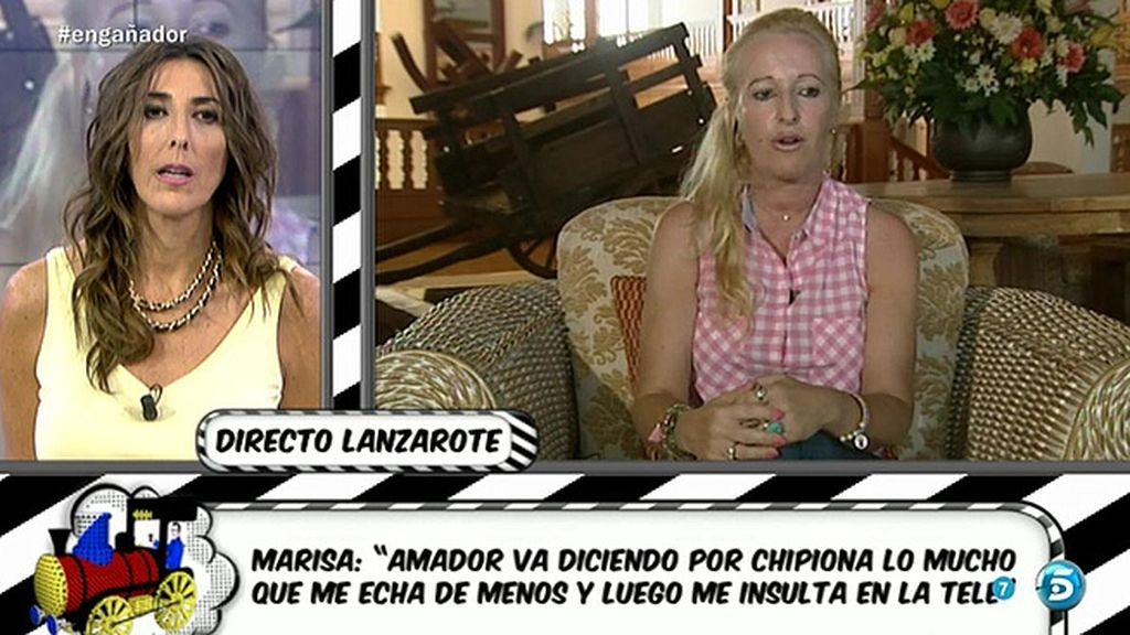 """Marisa Rejano: """"Amador consigue dinero vendiendo cosas, incluso de la hermana"""""""