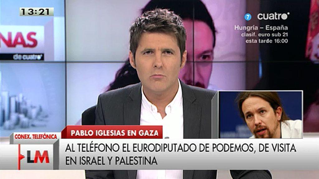 """Iglesias: """"De momento nos lo han prohibido, no sabemos si podremos entrar en Gaza"""""""