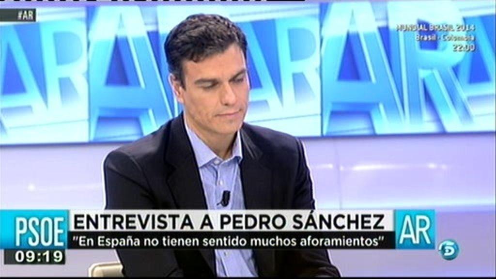 """Pedro Sánchez: """"Planteo que se limite el mandato a la Presidencia del Gobierno a dos legislaturas"""""""