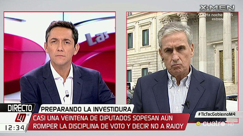 """Ramón Jáuregui, PSOE: """"Una abstención técnica puede ser la mejor opción"""""""