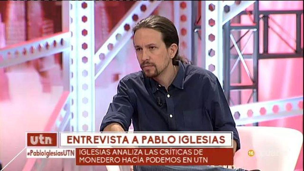 """Pablo Iglesias, sobre Monedero: """"Nos tira mucho de las orejas"""""""