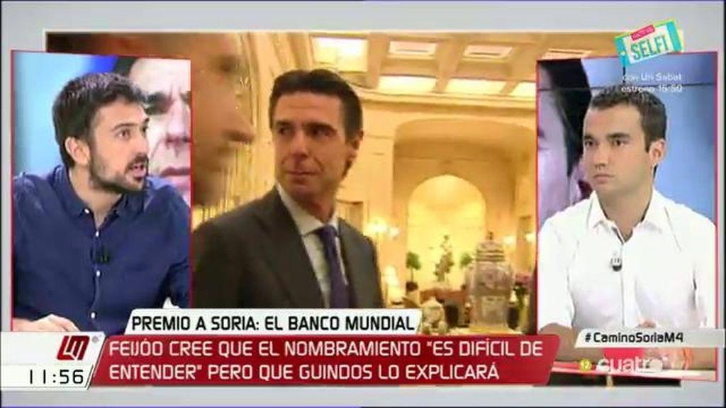 """Espinar: """"Clinton propuso a un Nóbel para el Banco Central y Rajoy propone a un golfo"""""""