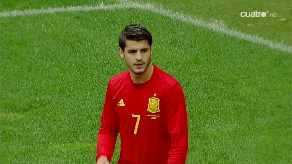 El golazo de Morata que fue anulado por fuera de juego