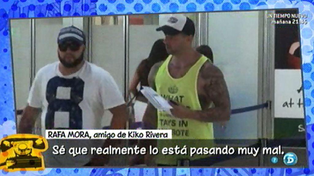 """Rafa Mora: """"Kiko Rivera ahora quiere estar acompañado por sus amigos y su familia"""""""
