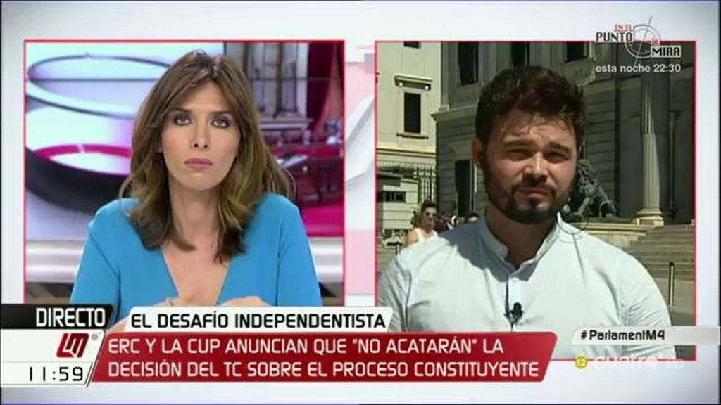 """Gabriel Rufián: """"En Cataluña no hablamos tanto de desobedecer sino de obedecernos a nosotros mismos"""""""