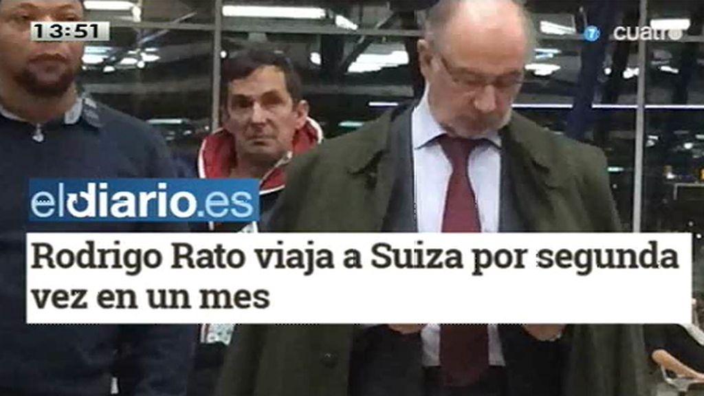 Rodrigo Rato ha viajado a Suiza por segunda vez en un mes, según 'eldiario.es'