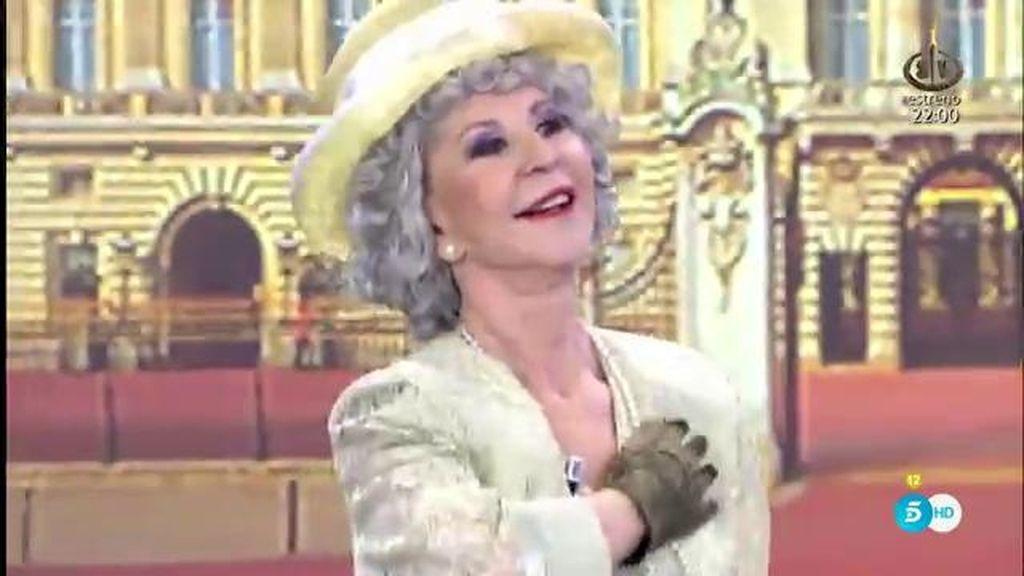 'Sálvame' hace un homenaje a la reina de Inglaterra en el día de su cumpleaños
