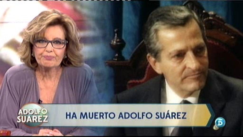 La reflexión de María Teresa Campos tras la muerte de Adolfo Suárez