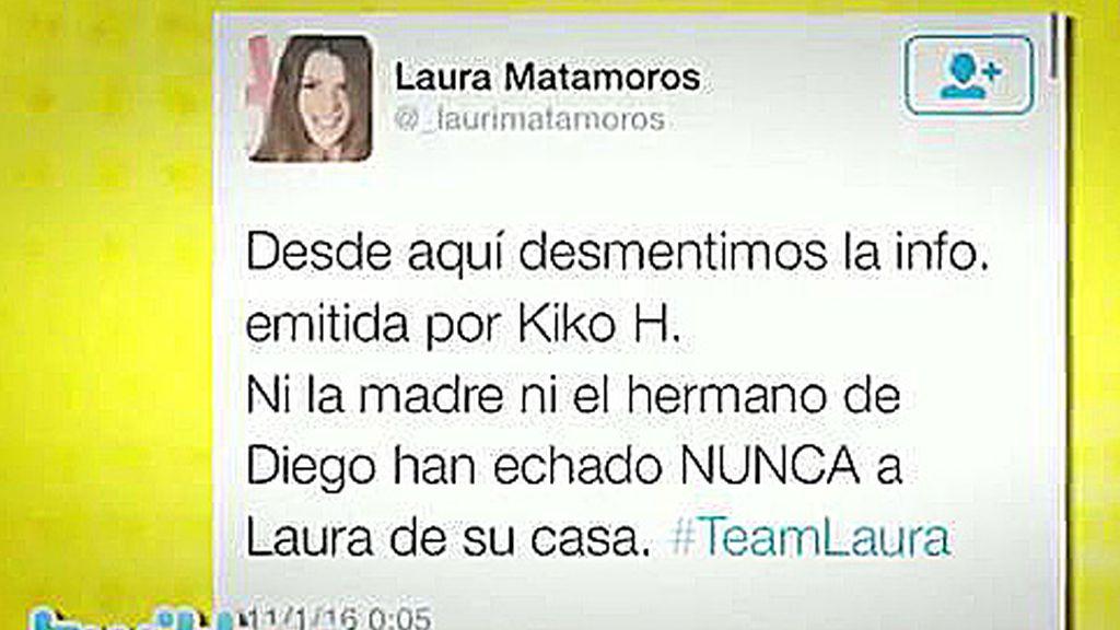 Laura Matamoros se defiende en twitter