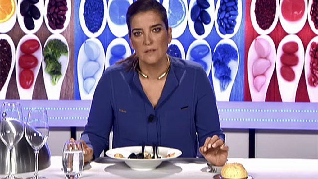 La zarzuela de marisco de Montse le deja un buen sabor de boca a Mª Jiménez Latorre