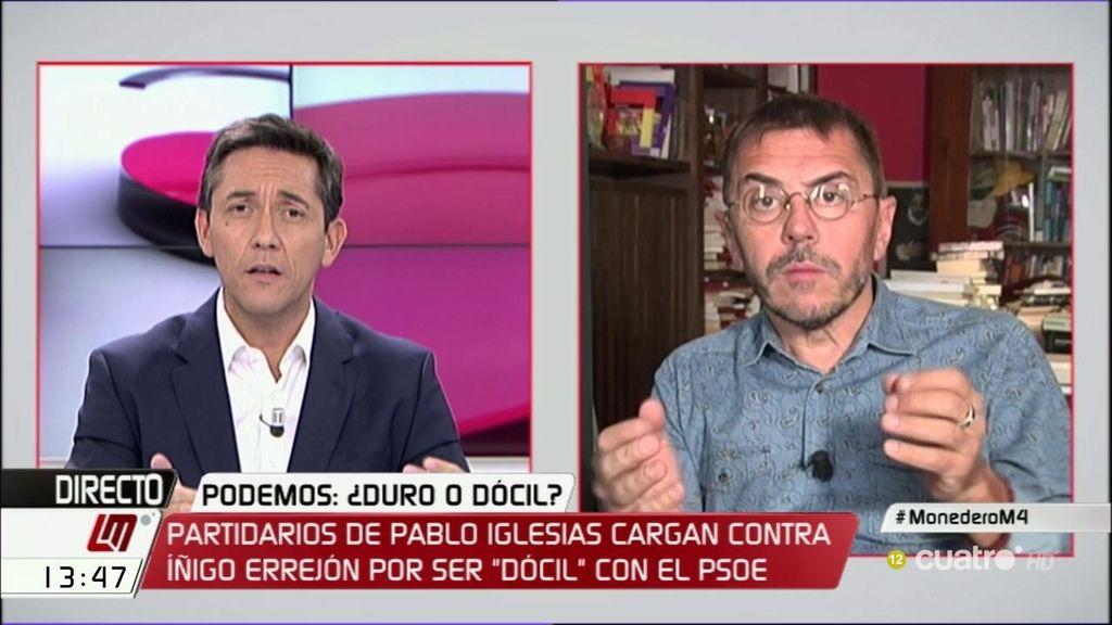 """Monedero: 'En Podemos hay un pulso ideológico y de poder, como debe ser"""""""