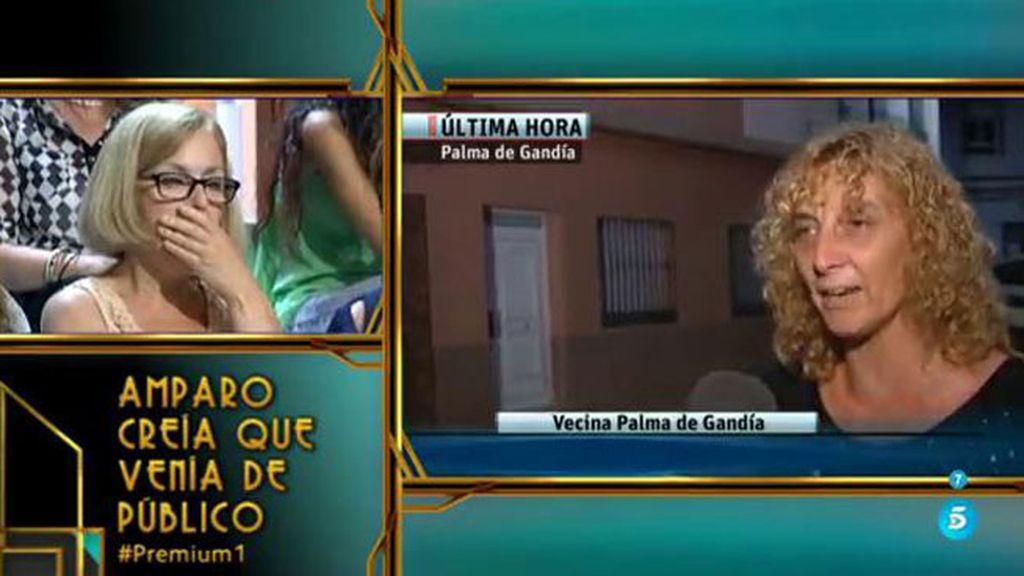 Amparo se queda de piedra al ver su casa asaltada en los informativos de Telecinco