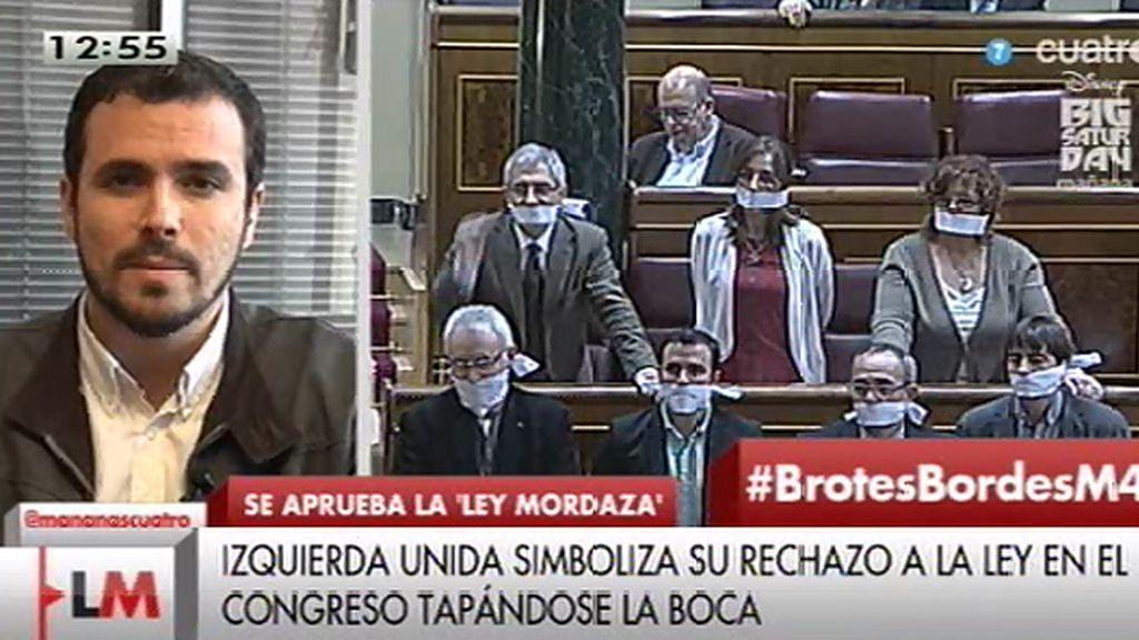 """A. Garzón: """"El PP ha perdido su capacidad de convencer y solo le queda la coerción"""""""