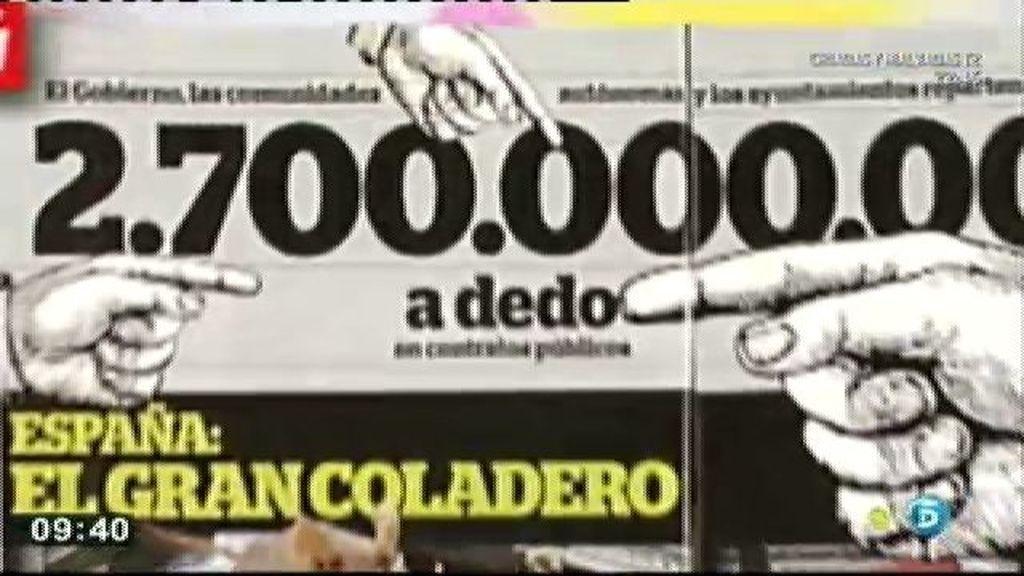 2.700 millones son entregados por las administraciones en contratos a dedo