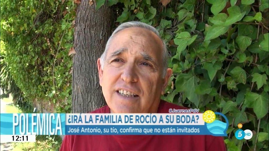 José Antonio, tío de Rocío, confirma que no están invitados a la boda