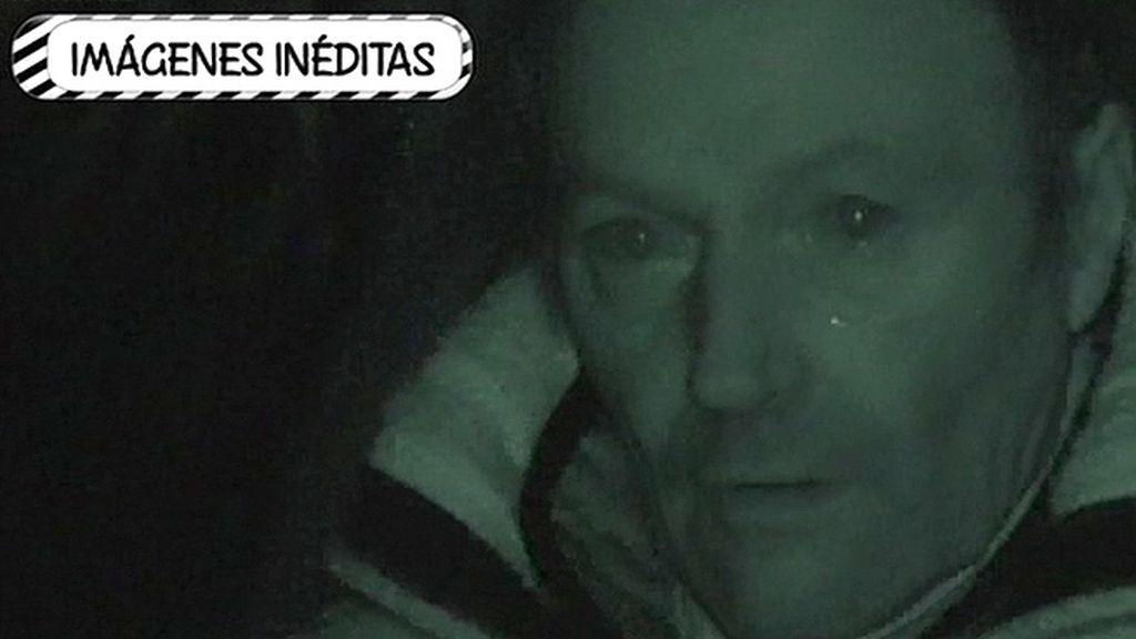 Amador Mohedano, entre lágrimas