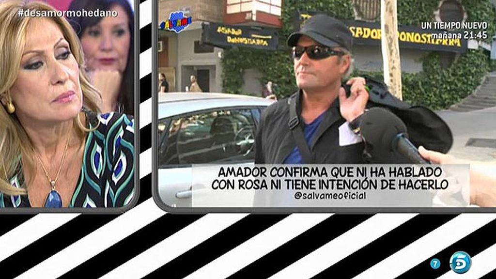 Amador vuelve a su finca sin hablar con Rosa