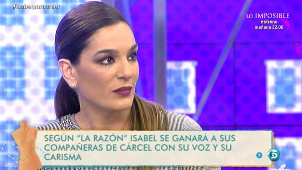 """Raquel, sobre Pantoja: """"Yo no entraría en prisión hasta que no agotase los recursos"""""""