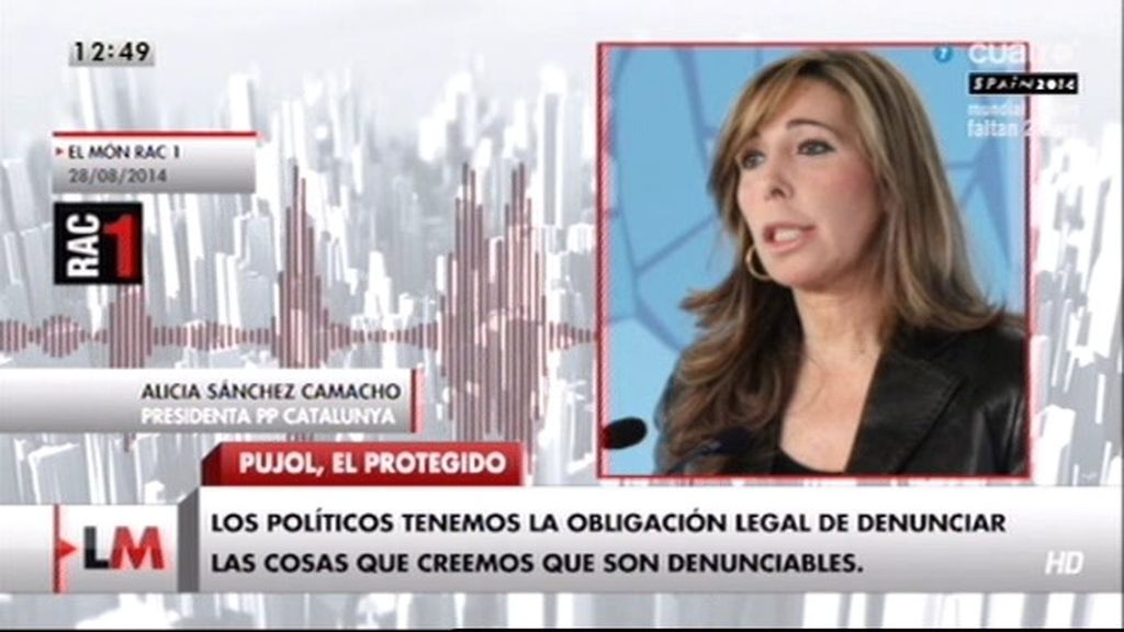 """Victoria Álvarez, sobre Pujol: """"Se lo dije a Sánchez Camacho (PP) y no hizo nada"""""""