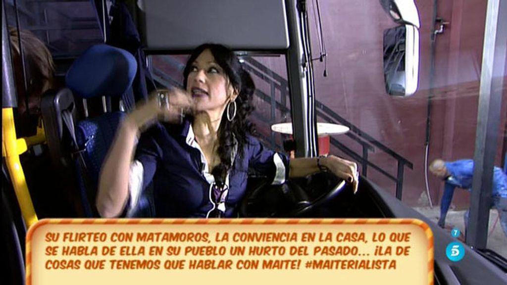 Maite Galdeano se sincera al volante
