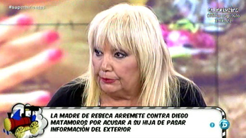 """Franciska, madre de Rebeca: """"Diego Matamoros es un embustero"""""""