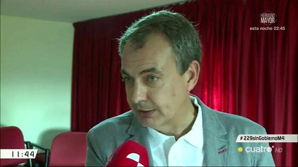 """Jose Luis Rodríguez Zapatero: """"Que el PSOE dialogue, hay que hablar"""""""