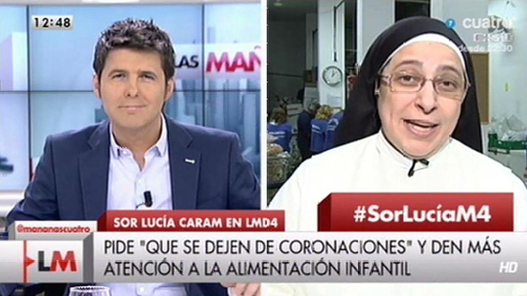 """Sor Lucía Caram: """"En este país vivimos con cortinas de humo"""""""