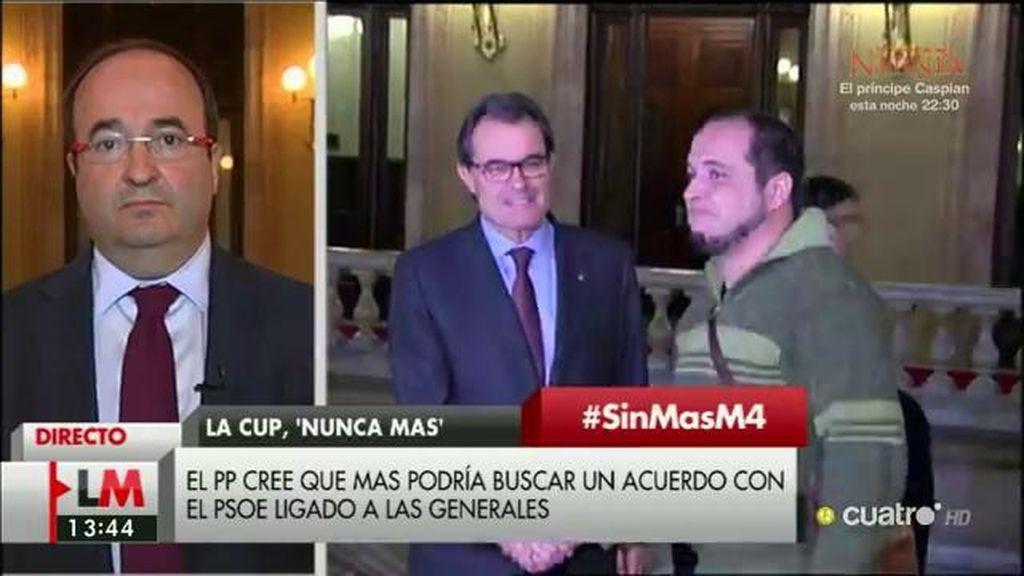 """Iceta, de Cataluña: """"Creemos que la única salida que queda es la convocatoria de nuevas elecciones"""""""