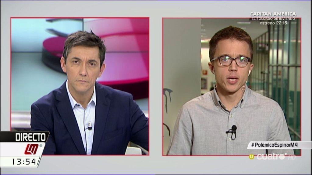 """Íñigo Errejón defiende a los periodistas: """"Yo nunca he creído en las manos negras"""""""