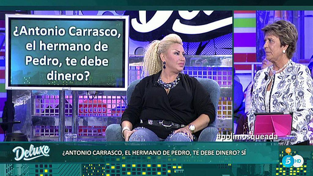 Raquel Mosquera asegura que el hermano de Pedro Carrasco le debe dinero