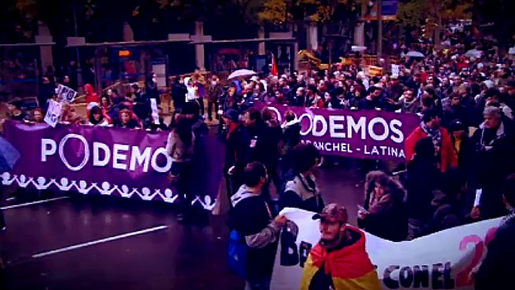 """Así está preparando 'Podemos' la manifestación """"por el cambio"""""""
