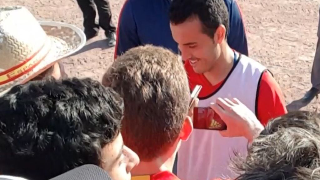 Una afición expectante, dos jugadores que cumplieron con ellos: Tiago, y Pedro 'el flexiones'